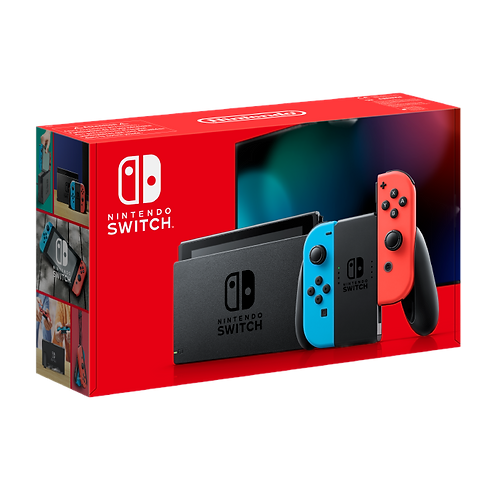 Nintendo Switch Console Neon Blue & Red