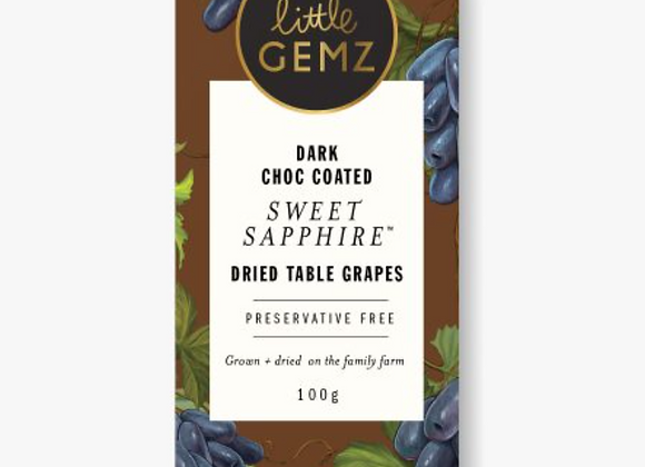 Dark Choc Coated Sweet Sapphire Grapes (100g)