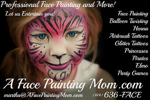 A Face Painting Mom business card