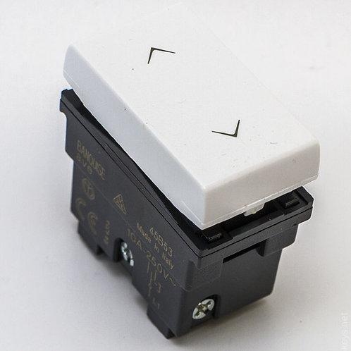 Выключатель без фиксации, белый