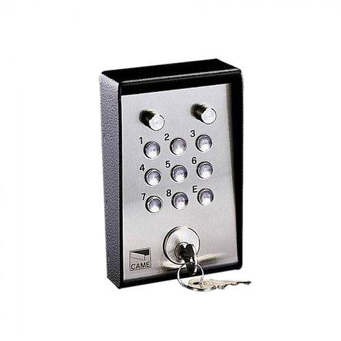 Клавиатура кодовая 9-кнопочная / накладная с ключом и подсветкой