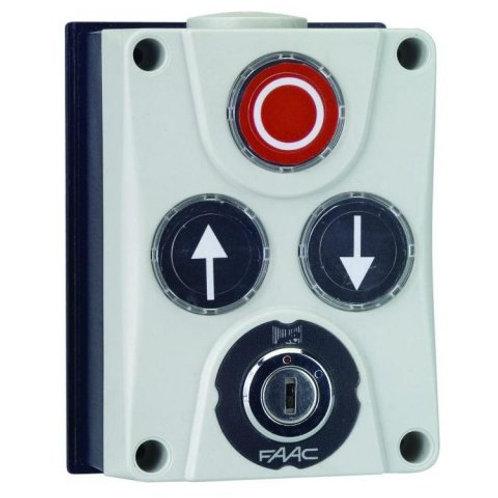 Панель управления XB300 3х кнопочная с ключом, настенный монтаж