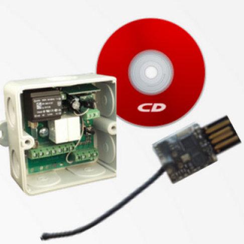 Радиоуправление одноканальное Radio 8615 IP65 с USB-stick для создания систем ко