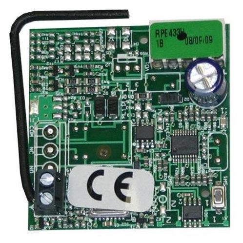 Радиоприемник 1-канальный встраиваемый в разъем RP 433 МГц  память на 250 пульт