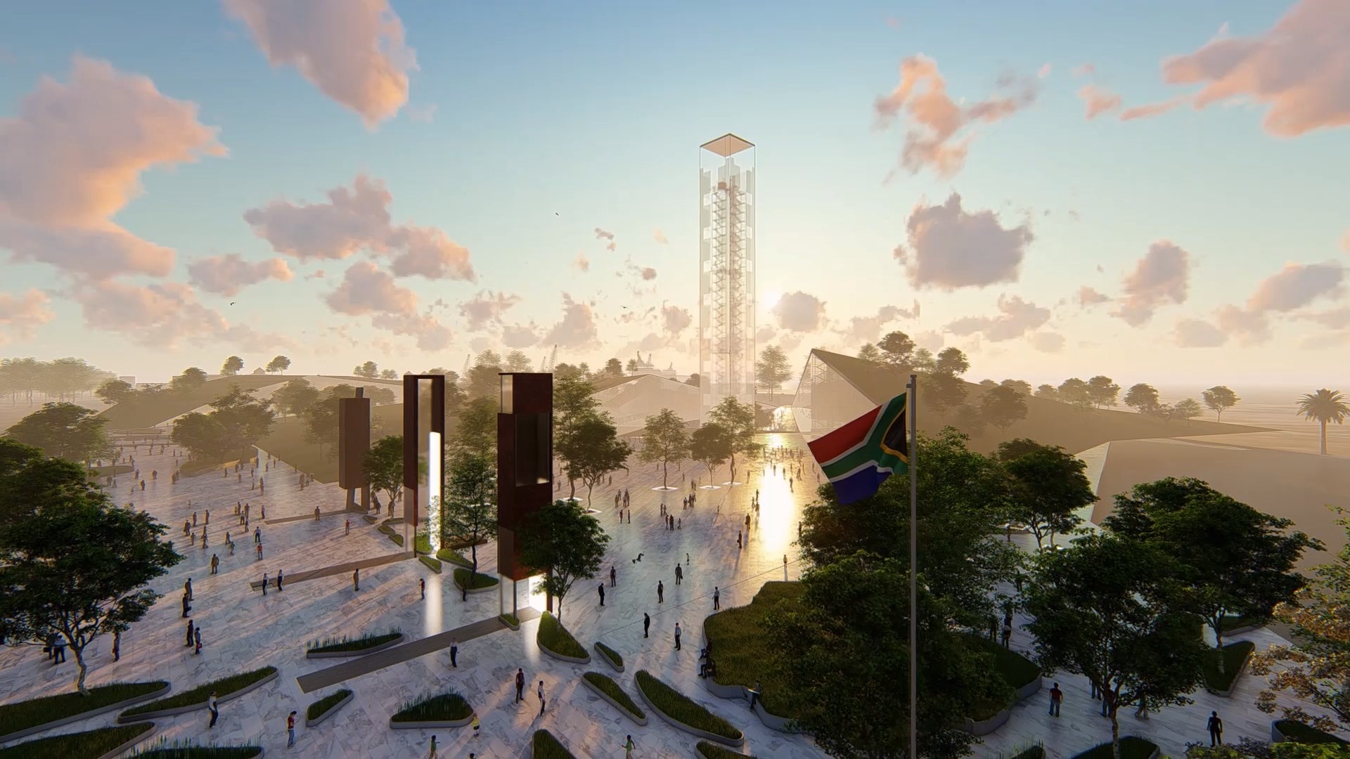THE NELSON MANDELA TOWER OF LIGHT