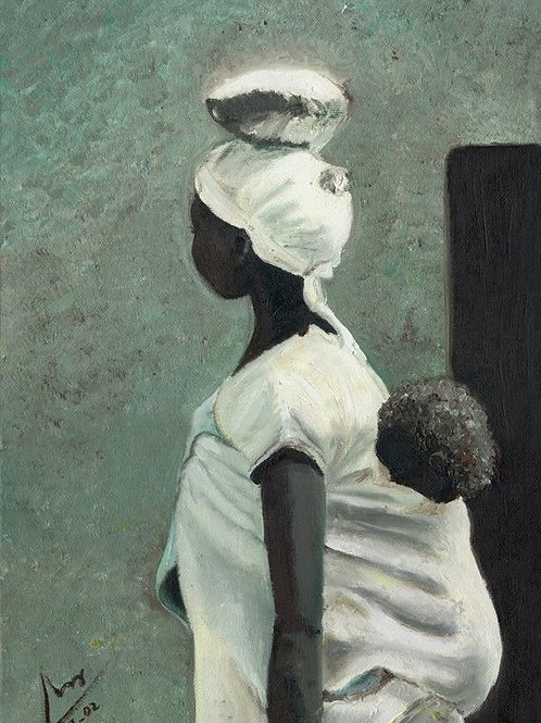 People Painting - Woman and Child