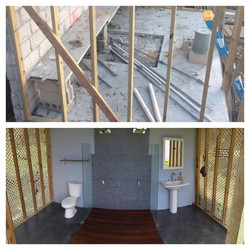 Outdoor Bathroom Before & After