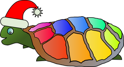 Machovka_Funny_turtle_with_santa_hat