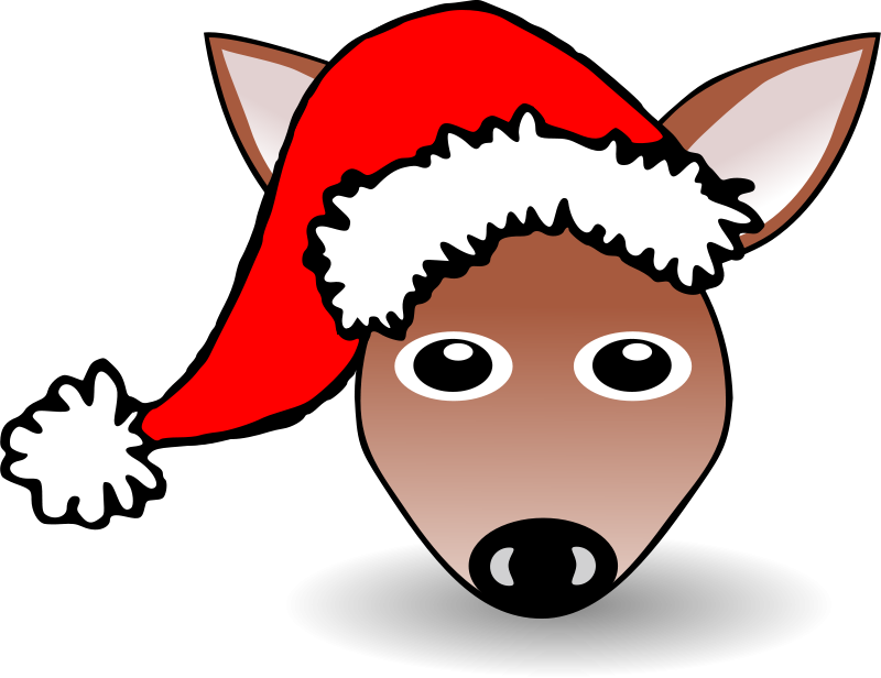 Fawn_01_Face_Cartoon_with_Santa_hat