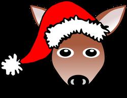 Fawn_01_Face_Cartoon_with_Santa_hat