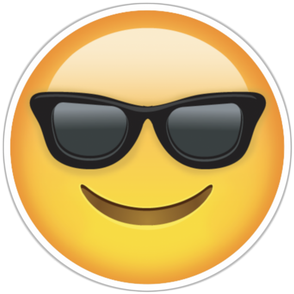 PNG images, Emoji, happy, cool
