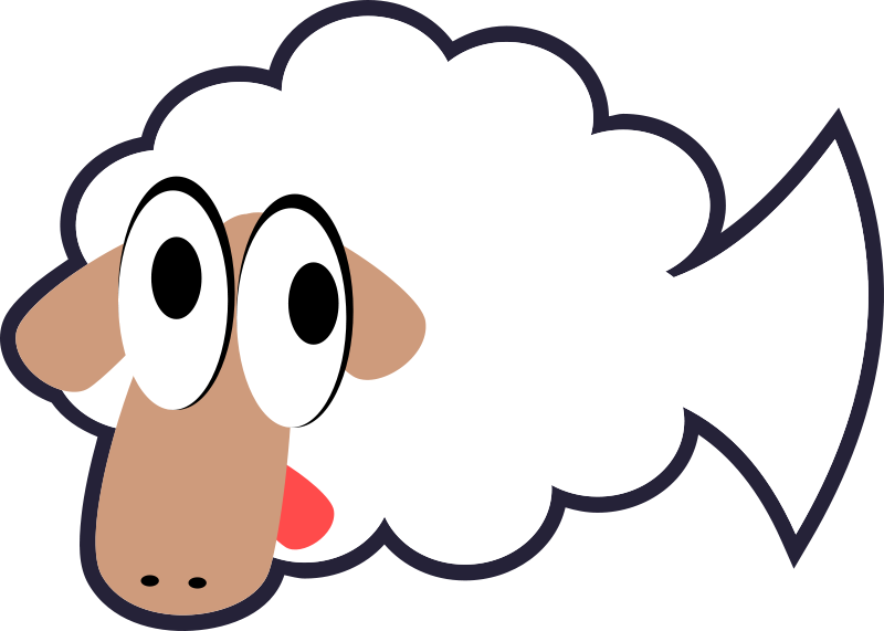 White_Stupid_Cute_Cartoon_Fish-Sheep