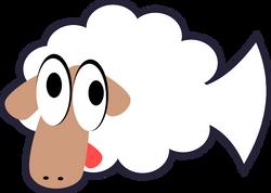 White_Stupid_Cute_Cartoon_Fish-Sheep