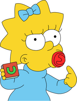 Maggie Simpson PNG