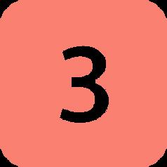 Number three, free PNGs