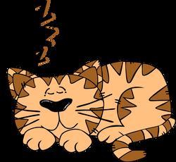 Gerald_G_Cartoon_Cat_Sleeping