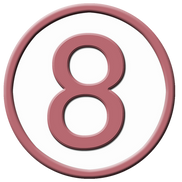 Number eight, free PNGs