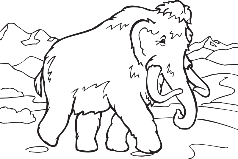 FunDraw_dot_com_Coloring_Book_Mammoth