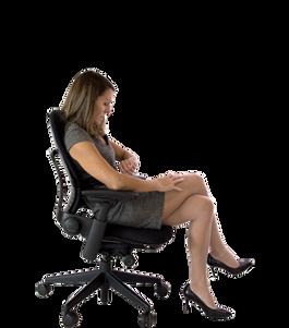 Sitting transparent images
