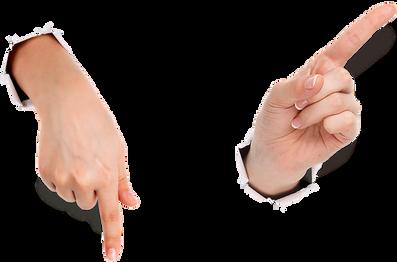 Fingers transparent images