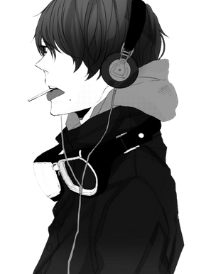 Manga boy, free PNG collection