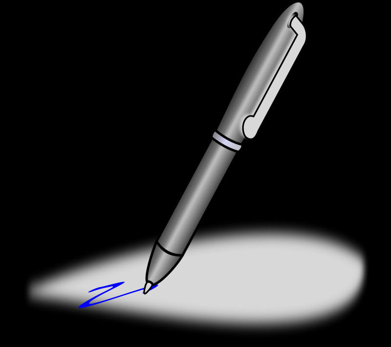 Анимация картинка пишущая ручка, при расставании любимым