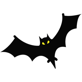 Bat free transparent cutouts