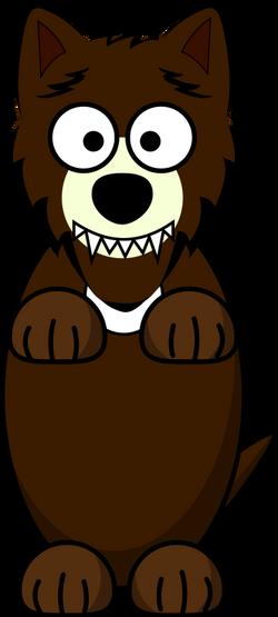 Loup_-_cartoon_-_marron