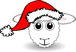Sheep_01_Face_Cartoon_with_Santa_hat