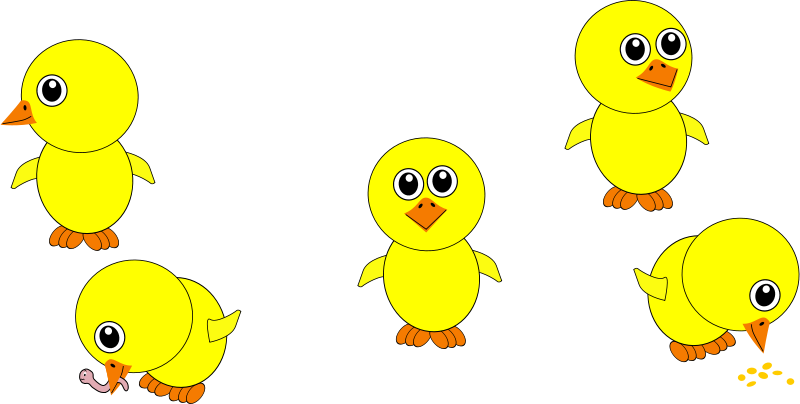 Chick_002_Multiple_Positions_Cartoon