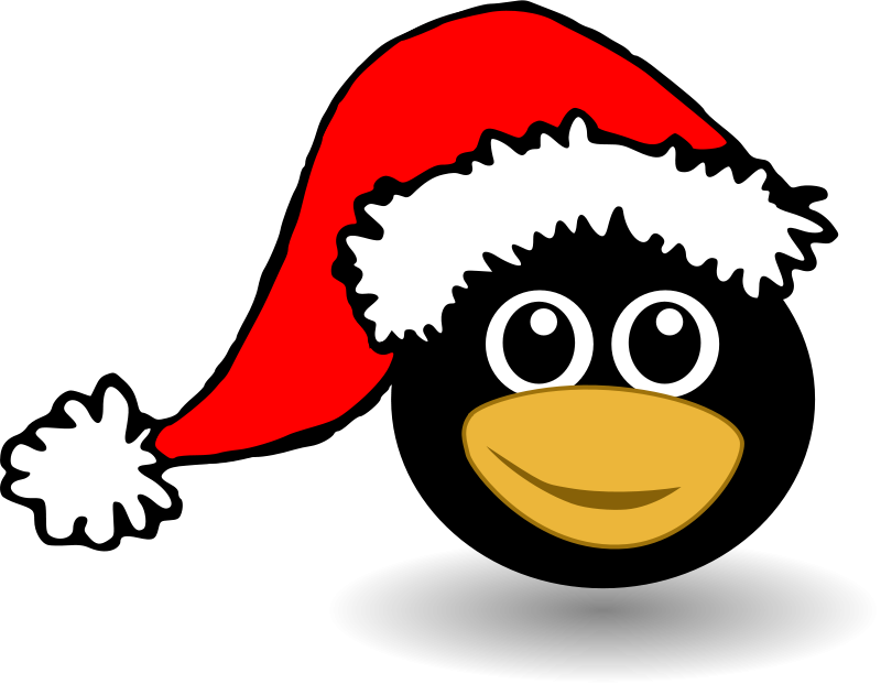 Penguin_001_Head_Cartoon_with_Santa_hat