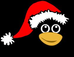 Penguin_001_Head_Cartoon_with_Santa_hat