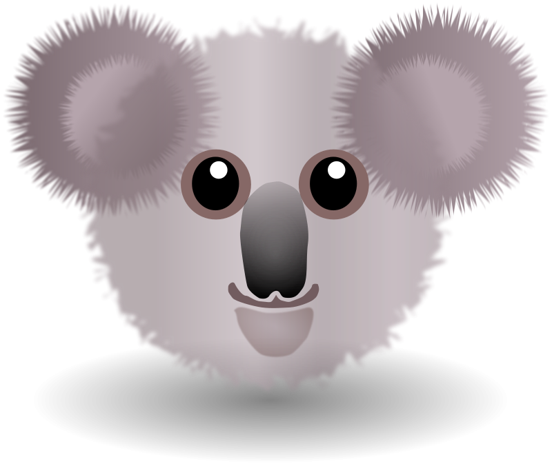 Koala_001_Face_Cartoon_Grey
