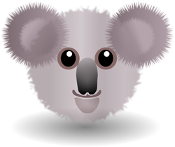 Koala_001_Face_Cartoon_Grey