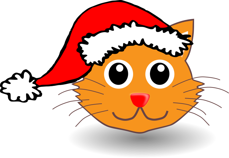 Cat_001_Face_Cartoon_with_Santa_hat