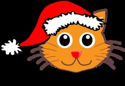 Cat_001_Face_Cartoon_with_Santa_hat