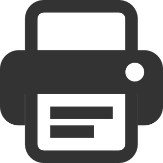 Printer free icon PNG