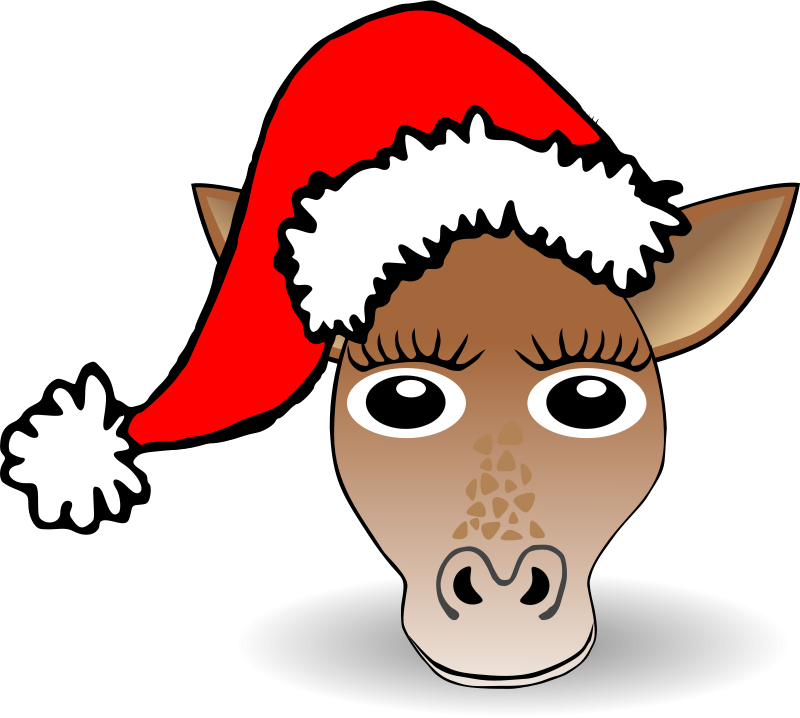 Giraffe_01_Face_Cartoon_Santa_Hat