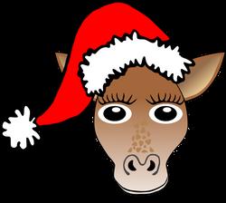 Giraffe_01_Face_Cartoon_Santa_Hat