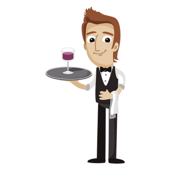 Waiter PNG images
