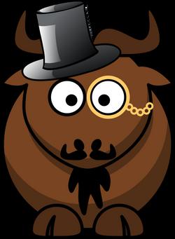 Cartoon_gnu_top_hat_mustache