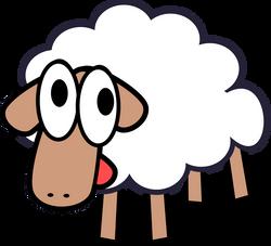 White_Stupid_Cute_Cartoon_Sheep