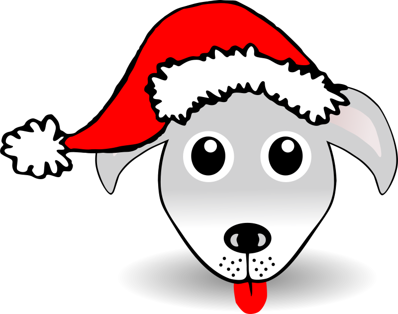 Dog_01_Face_Cartoon_Grey_with_Santa_hat