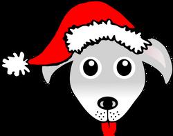 Dog_01_Face_Cartoon_Grey_with_Santa_hat
