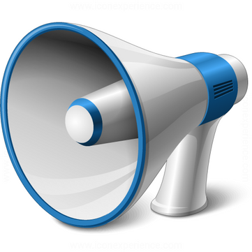 Megaphone free icon PNG
