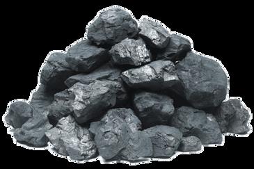 Coal transparent image