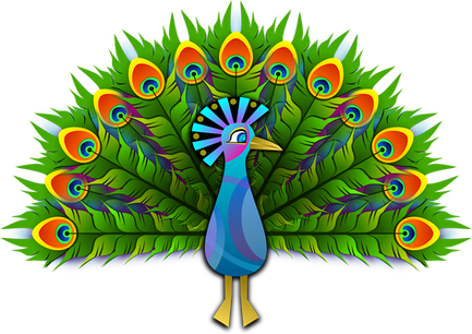 PNG images: Peacock