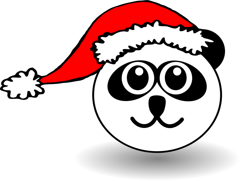 Panda_001_Head_Cartoon_with_Santa_hat