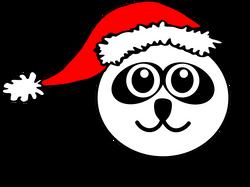 Panda_001_Head_Cartoon_with_Santa_hat