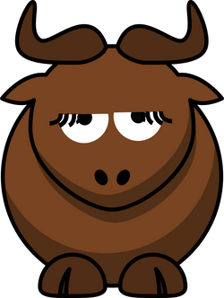 Cartoon_gnu_is_disappoint